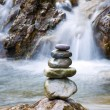Pebble stones over waterfall — Stock Photo #2956639