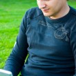 In park with laptop — Stock Photo #2989177