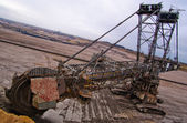 Giant bucket wheel excavator — Stock Photo