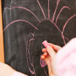 Hand of child with chalk — Stockfoto #2989008