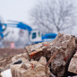 Stock Photo: Demolishing site.