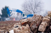 Demolishing site. — Stock Photo
