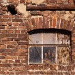 Old brick wall and window — Stock Photo