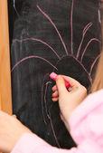 Bir kara tahta üzerinde çizim — Stok fotoğraf
