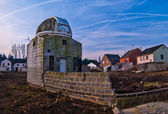 Small observatory in abandoned town — Stock Photo