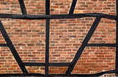 Half-timbered wall texture — Stock Photo