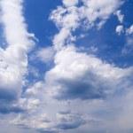 Wide angle blue sky — Stock Photo