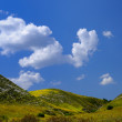 Landscape with green hills — Foto de Stock
