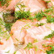 Stock Photo: Fried trout with dill
