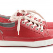 Red leather sneakers — Stock Photo #2771106