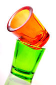 Color glass candlestick — Stock Photo