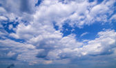 Wide angle blue sky — Stock Photo