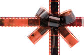 Film tape bow — Stock Photo