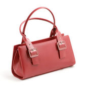 Red ladies handbag — Stock Photo