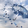 Stock Photo: Solar photovoltaic umbrella