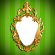 Gold vintage metal frame — Stockfoto