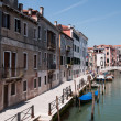 Colorful canal Venice, Italy — Stock Photo #3449089