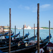 Berth with gondolas Venice, Italy — Stock Photo
