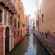 Colorful canal Venice, Italy - Stock Photo