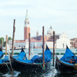 Stock Photo: Berth with gondolas Venice, Italy