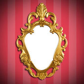 Gold vintage metal frame — Stock Photo