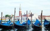 Berth with gondolas Venice, Italy — Stock Photo