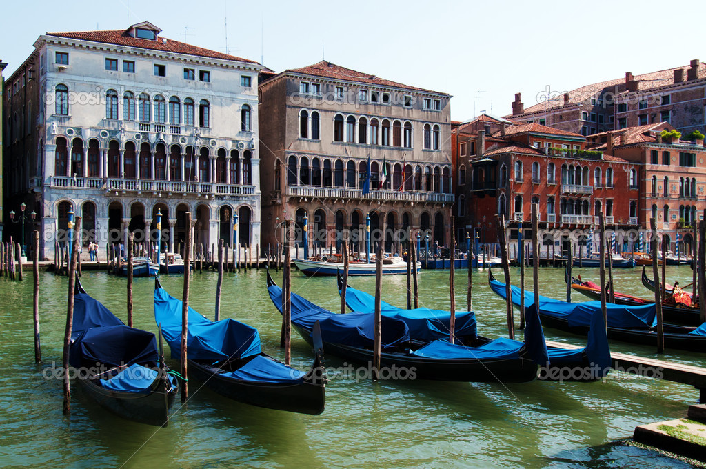 Grand canal of Venice with gondolas, Italy  Stock Photo #3449112