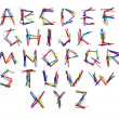 Latin letters from the set of felt-tip pen — Stock Photo