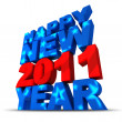 Happy new year 2011 — Stock Photo