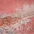 Old brick wall and stucco — 图库照片