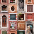 Doors and windows collection — Stockfoto