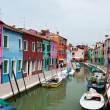 Colorful houses of Burano island, Italy — Stock Photo