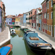 Colorful houses of Burano island, Italy - Stock Photo