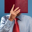 Man with open book — Stock Photo #3822328