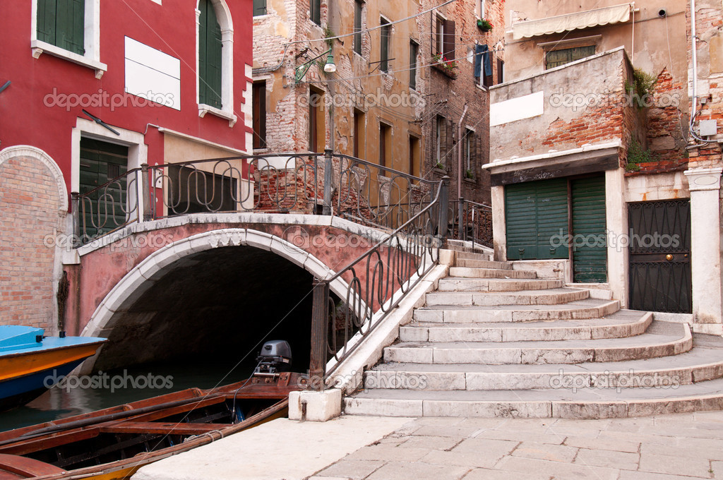 One of the many canals of Venice, Italy — Stock Photo #3822230