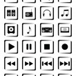 Musical buttons - Stock Vector