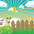 Two sheep - Stock Vector