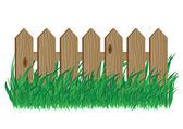 Wooden fence — Vector de stock