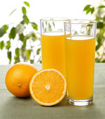 Juice glasses orange — Stock Photo
