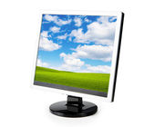 Computer monitor isolated — Stock Photo