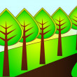 Abstract trees. Vector illustration. — Stockvectorbeeld