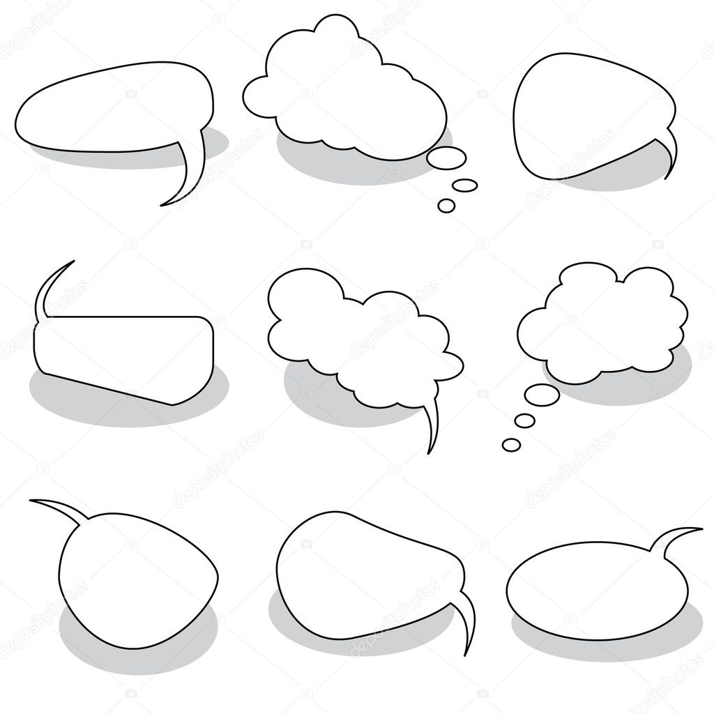 Vector Idea Bulbs. Chat Bubbles  Stock Vector #2782412