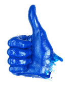 Thumbs up hand sign — Stock Photo