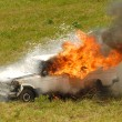Car on fire - Stock Photo
