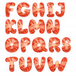 Stock Photo: Tomato alphabet