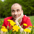 Young man on the grass — Stock Photo #3093035