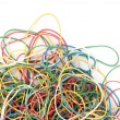 Stock Photo: Pile of colorful rubber elastics