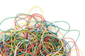 A pile of colorful rubber elastics — Stock Photo