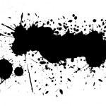 Black ink blots — Stock Photo