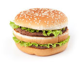 Tasty big hamburger — Stock Photo